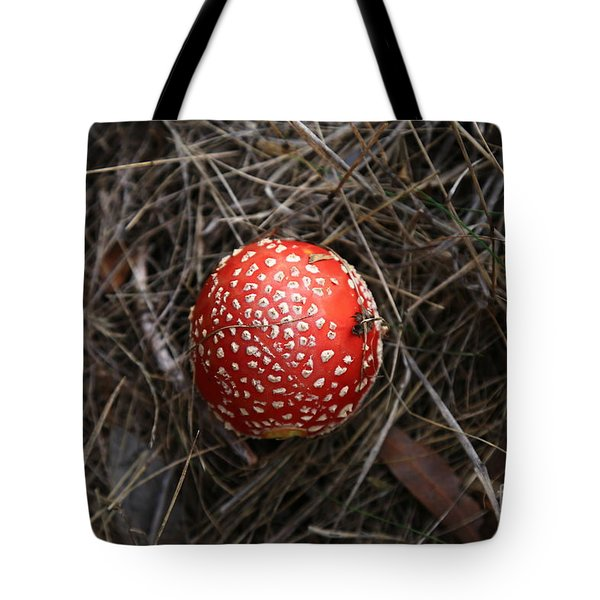 Red Spotty Toadstool Tote Bag by Nareeta Martin