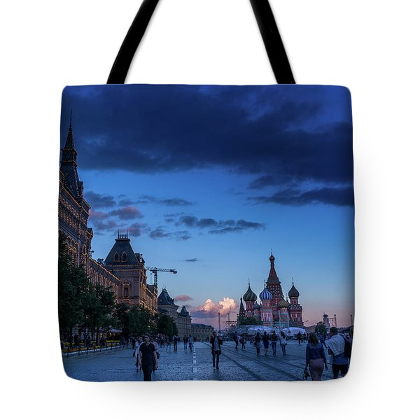 Red Square At Dusk Tote Bag