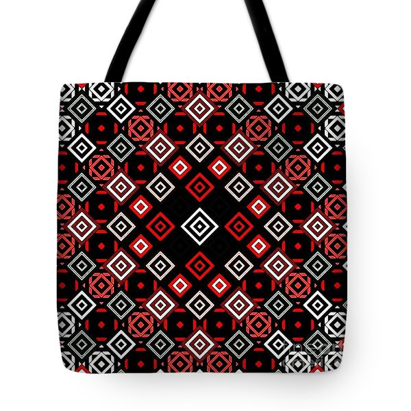 Red Squared Tote Bag