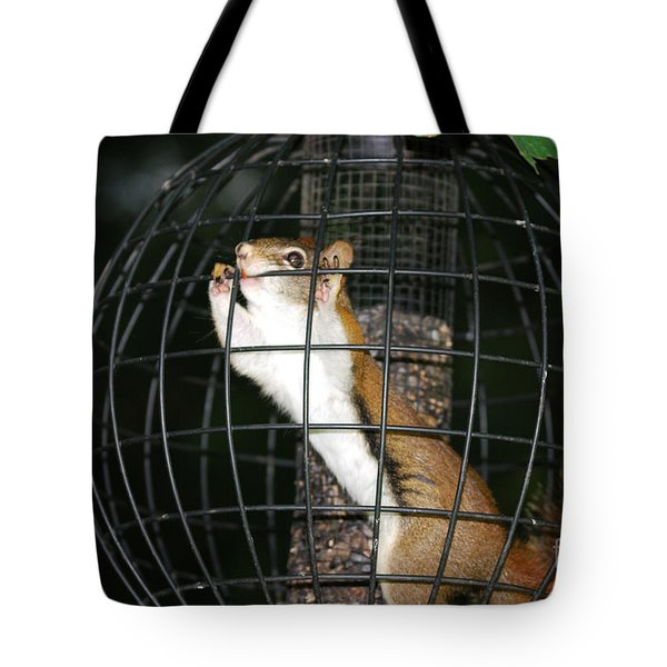 Red Squirrel Jail Tote Bag