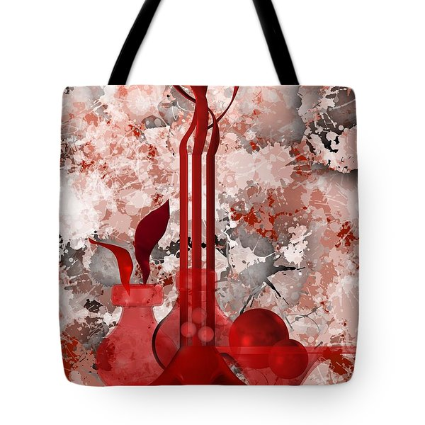Red Stain Still Life Tote Bag