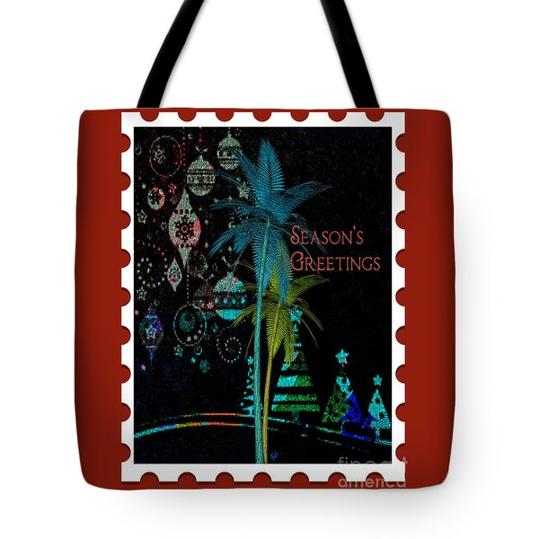 Tote Bag featuring the digital art Red Stamp by Megan Dirsa-DuBois