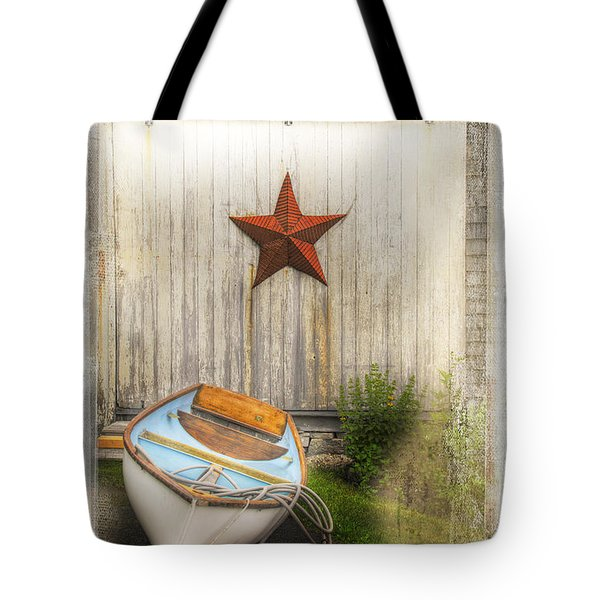 Red Star Boat Tote Bag