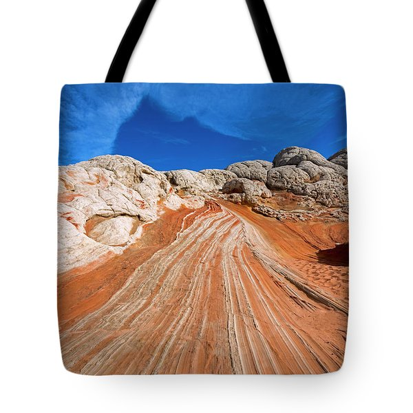 Tote Bag featuring the photograph Red Stone Highway by Mike Dawson
