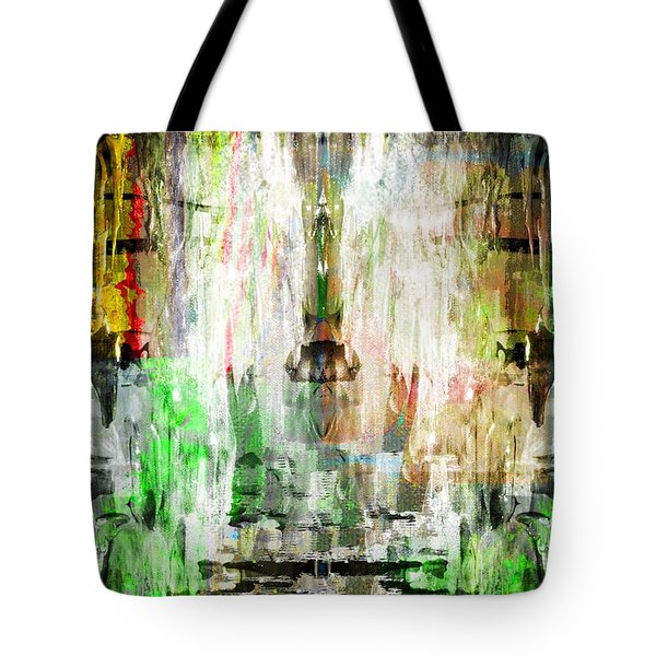 Tote Bag featuring the digital art Red Strategy by Art Di