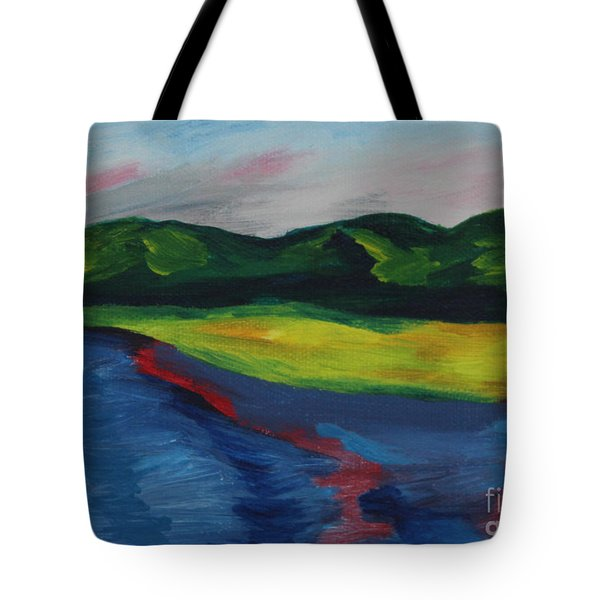 Red Streak Lake Tote Bag