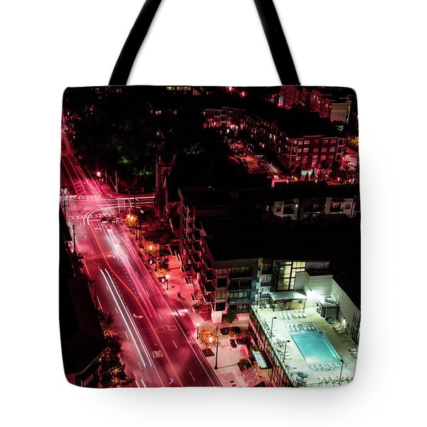Red Streets Tote Bag