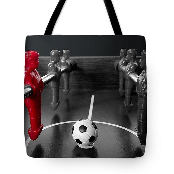 Red Striker Tote Bag