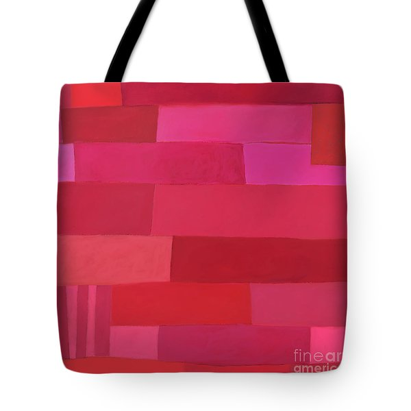 Tote Bag featuring the photograph Red Stripes 1 by Elena Nosyreva