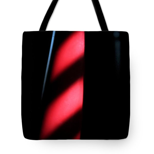 Tote Bag featuring the digital art Red Stripes by Todd Blanchard