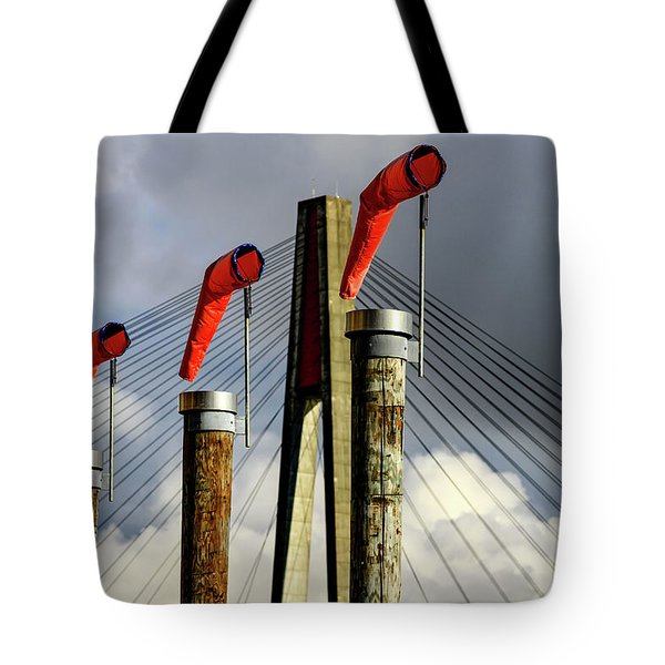 Red Subject Tote Bag by Menachem Ganon
