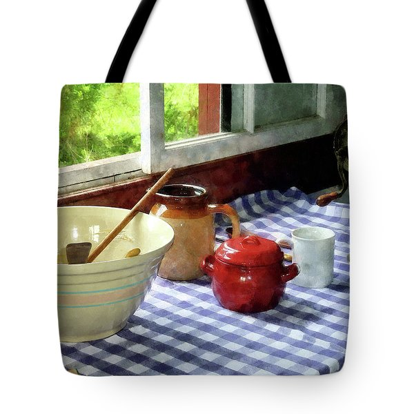 Red Sugar Bowl Tote Bag by Susan Savad