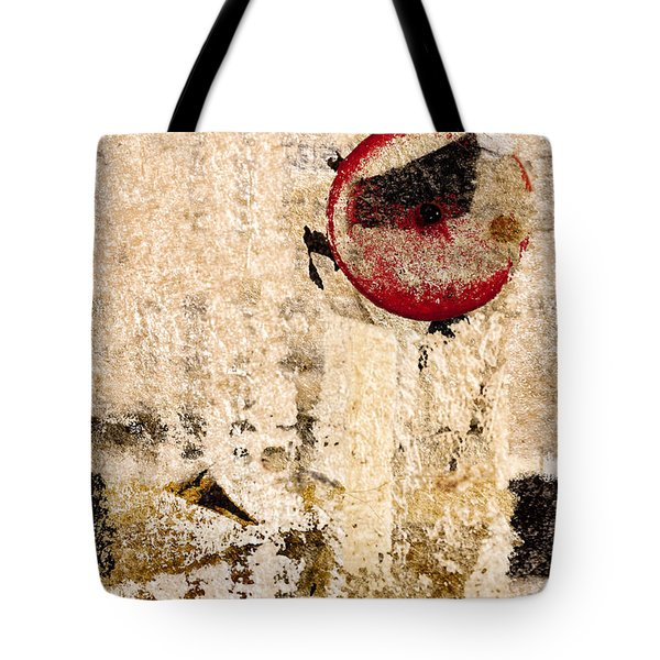 Red Sun Collage Tote Bag