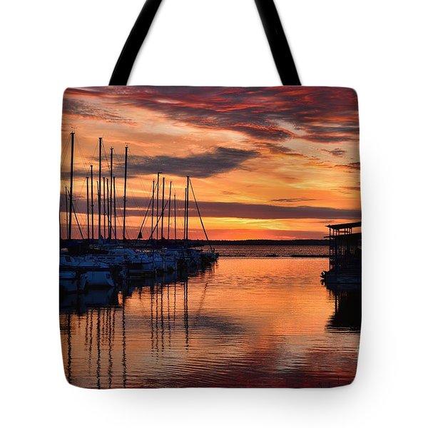 Red  Sunrise Tote Bag