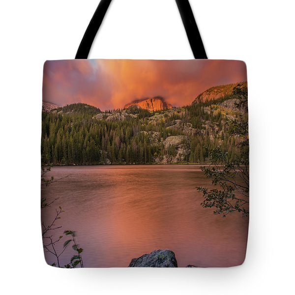 Red Sunrise  Tote Bag