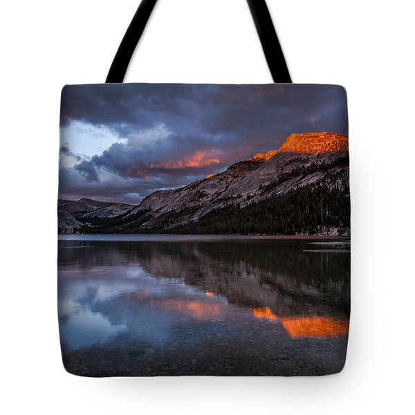 Red Sunset At Tenaya Tote Bag