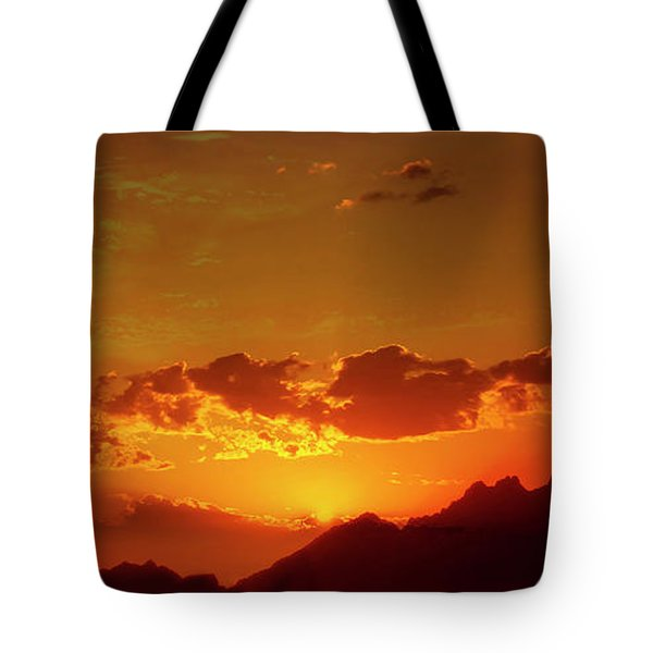 Red Sunset In Africa 2 Tote Bag