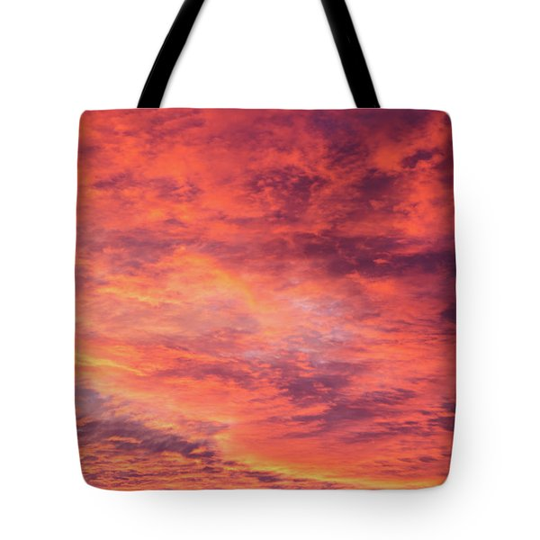 Red Sunset Sky Tote Bag