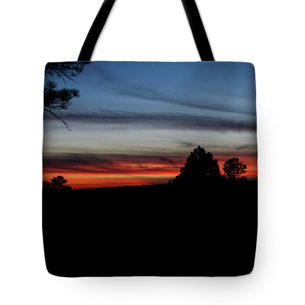 Red Sunset Strip Tote Bag