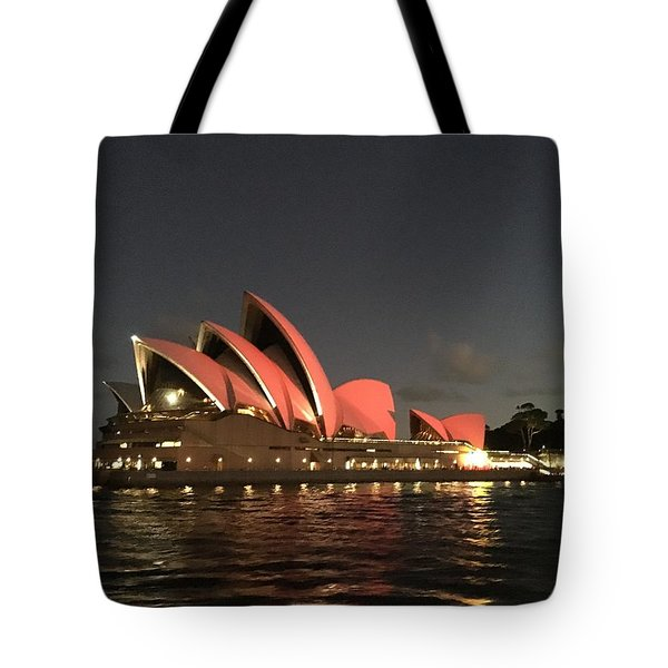 Red Sydney Opera House Tote Bag