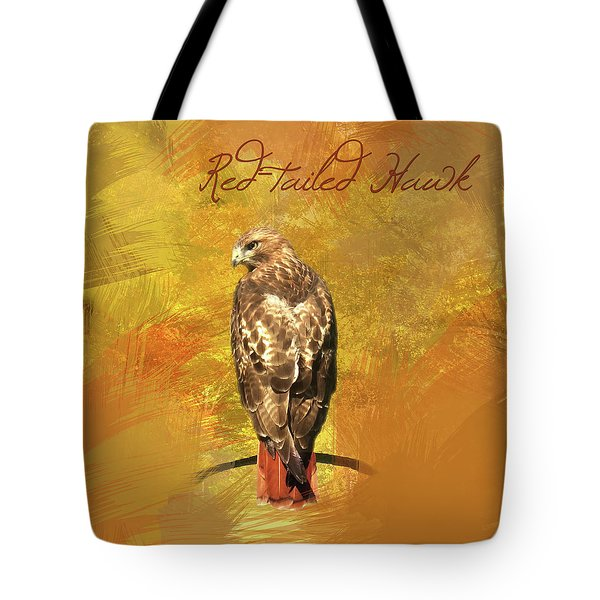 Red-tailed Hawk Watercolor Photo Tote Bag