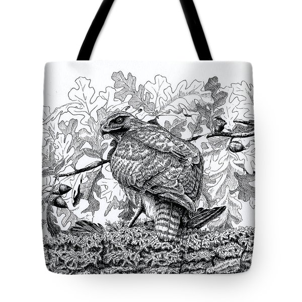 Red Tailed Huntress Tote Bag