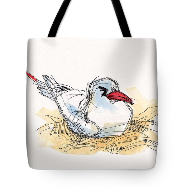 Red-tailed Tropicbird On Aitutaki Tote Bag