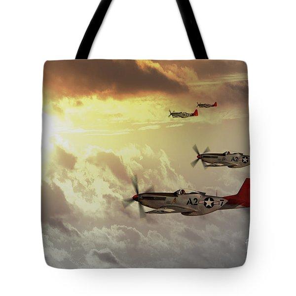 Red Tails Tote Bag by J Biggadike