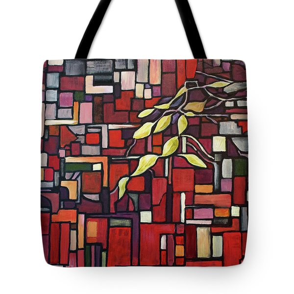 Tote Bag featuring the painting Red Tango by Joanne Smoley