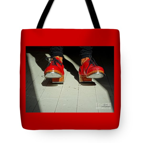 Red Tap Shoes Tote Bag