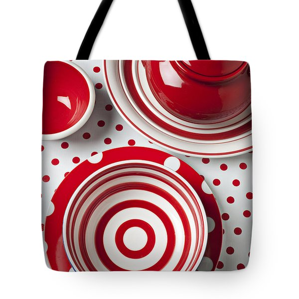 Red Teapot Tote Bag by Garry Gay