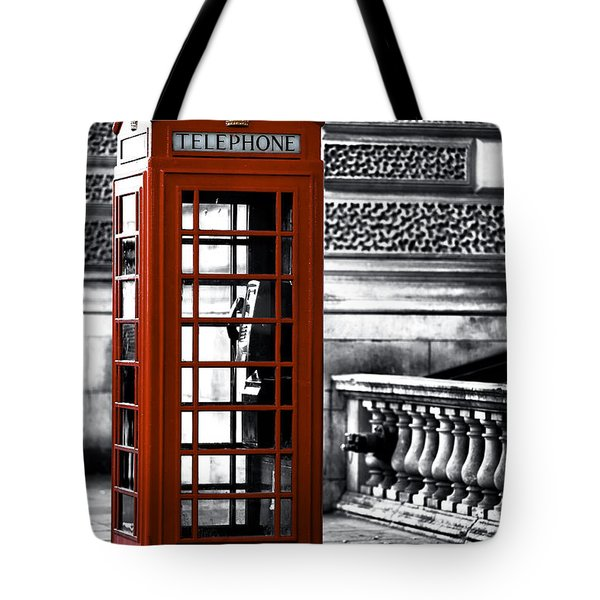 Red Telephone On Parliament Street Tote Bag