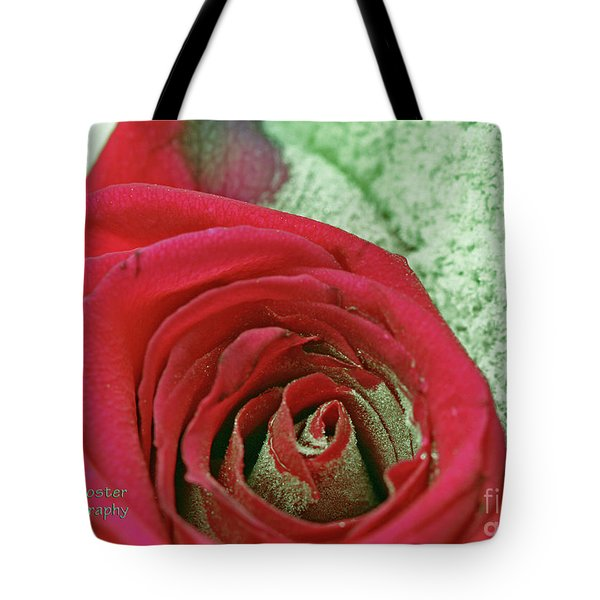 Red Tote Bag by Terry Foster