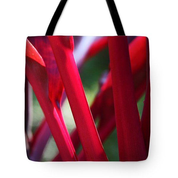 Tote Bag featuring the photograph Red Ti  by Kerri Ligatich