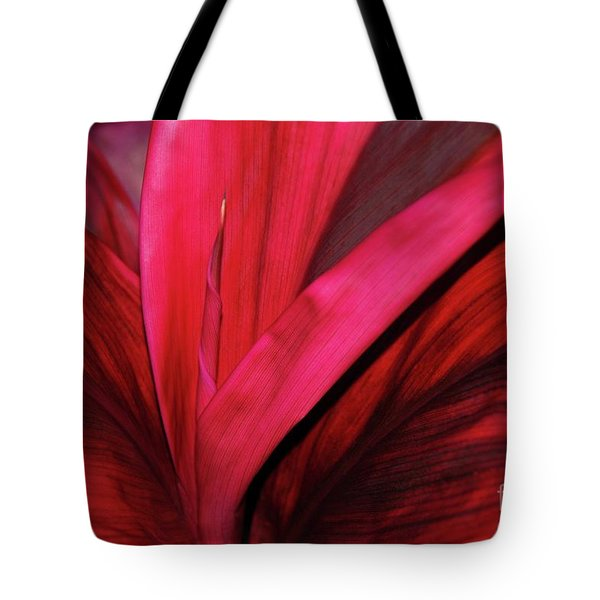 Red Ti Leaf Plant - Hawaii Tote Bag