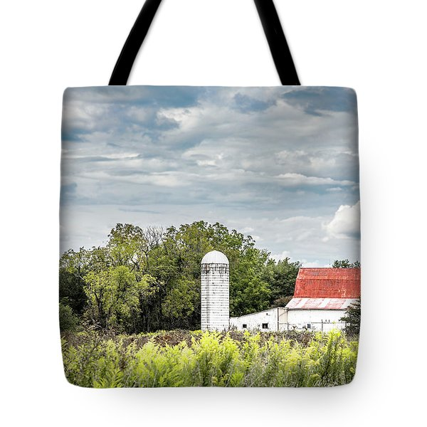 Red Tin Roof Tote Bag