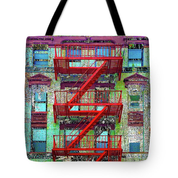 Tote Bag featuring the mixed media Red by Tony Rubino