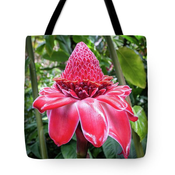 Red Torch Ginger Flower Tote Bag