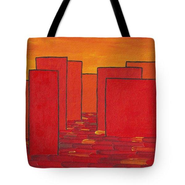 Red Town P2 Tote Bag