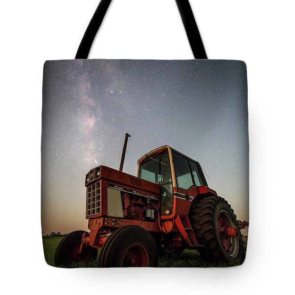 Red Tractor Tote Bag