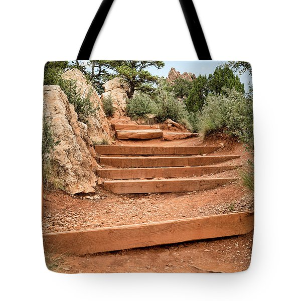 Red Trail Tote Bag