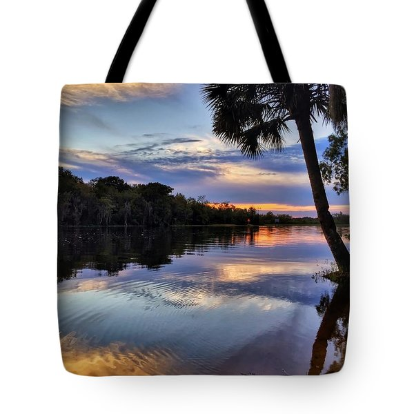Red Tranquility  Tote Bag