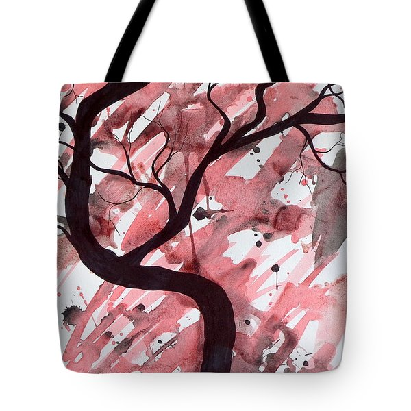 Red Tree Enchantment Tote Bag