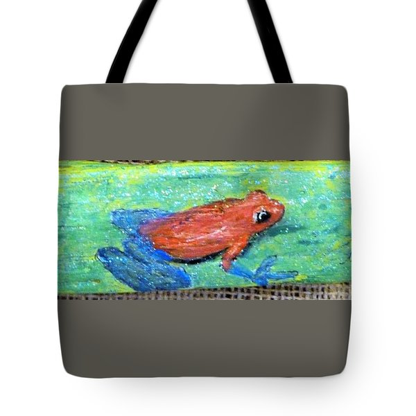 Red Tree Frog Tote Bag