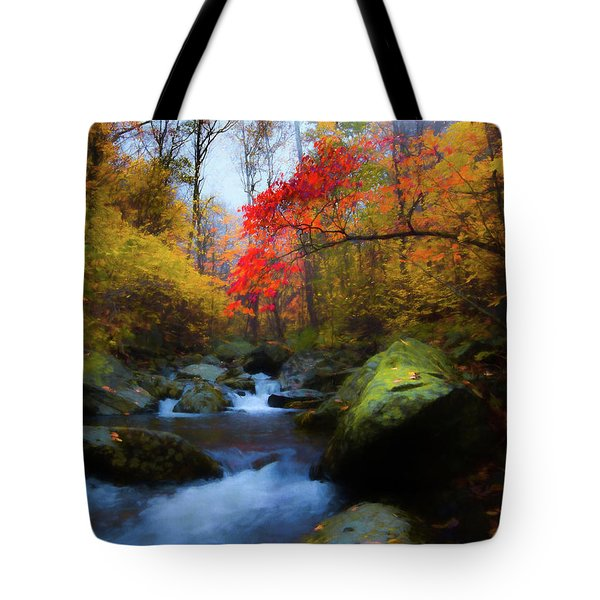 Red Tree In White Oak Canyon Tote Bag