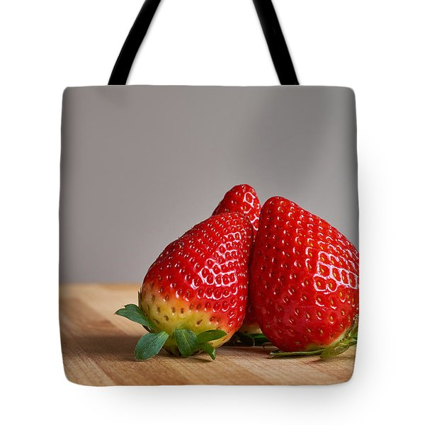Red Trio Tote Bag