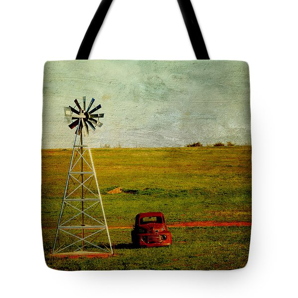 Red Truck Red Dirt Tote Bag by Toni Hopper