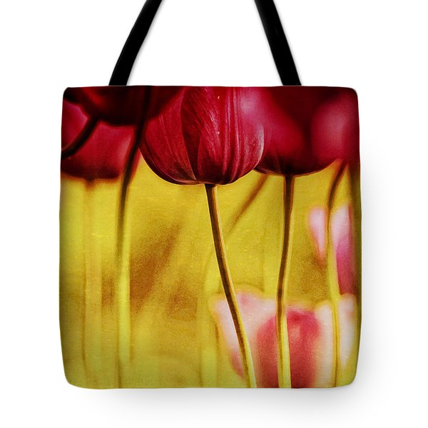 Red Tulips Tote Bag by Iris Greenwell