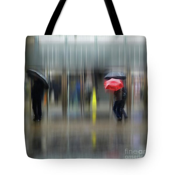 Tote Bag featuring the photograph Red Umbrella by LemonArt Photography