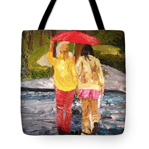 Red Umbrella Tote Bag by Michael Lee